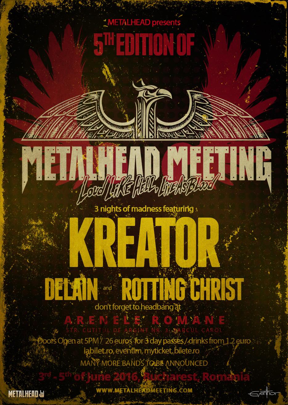 (RO) KREATOR si Delain vor canta la festivalul METALHEAD Meeting 2016