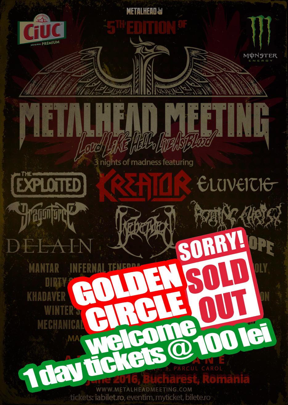 Metalhead Meeting: Golden Circle sold out, bilete de o zi si programul headlinerilor pe zile